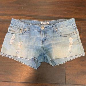 True Bliss Light Wash Denim Shorts